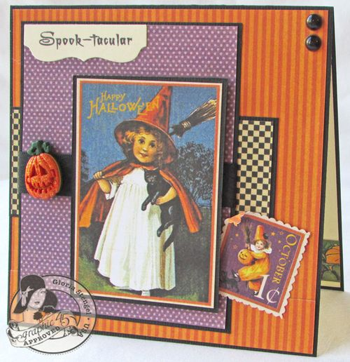 Place in Time Card Holiday Halloween Christmas Thanksgiving Graphic 45 Gloria Stengel Tutorial