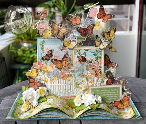 Susan Lui Graphic 45 Secret Garden Gift Book 3-D Spring Easter