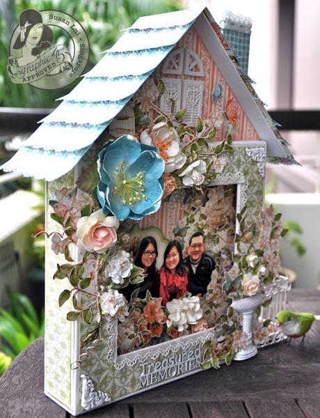 Susan Lui Graphic 45 Secret Garden Altered Happy Home 6