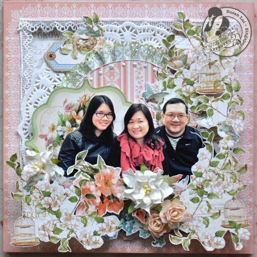 Susan Lui Graphic 45 Secret Garden Altered Happy Home 7