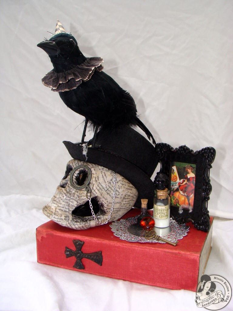 Nicole Eccles- G45 Happy Haunting- Altered Art Box Assemblage 1