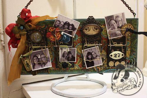 Denise Hahn Olde Curiosity Shoppe Altered Mouse Trap Picture Holder - 02-imp