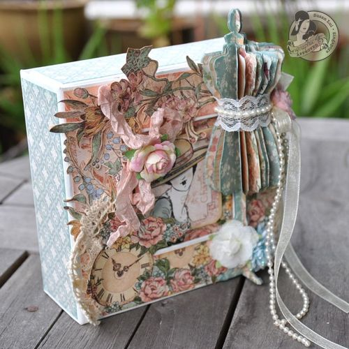 Susan Lui Graphic 45 Ladies Diary Art Box & Mini_ Bangkok 2