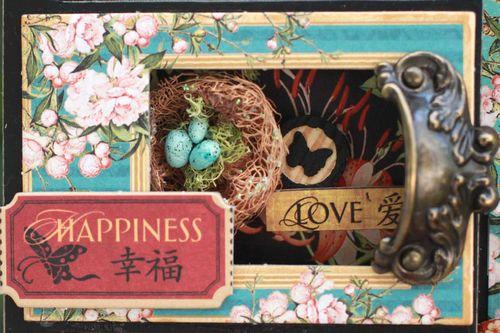 Graphic45 Sharon Ngoo Photo Tray BirdSong - compartment4