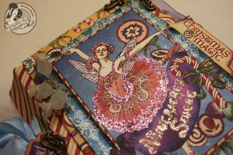 Denise Hahn Nutcracker Sweet Hand Bound Mini Album - 08-imp