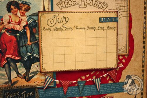 Denise Hahn Graphic 45 Place In Time July Calendar Page - 4-imp