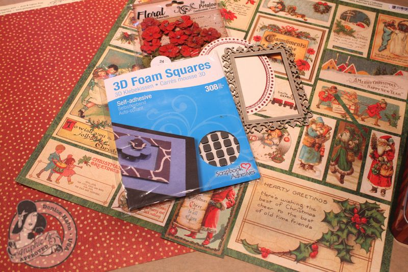 Denise Hahn Graphic 45 Scrapbook Adhesive Vintage Christmas Gift Bags - 01-imp