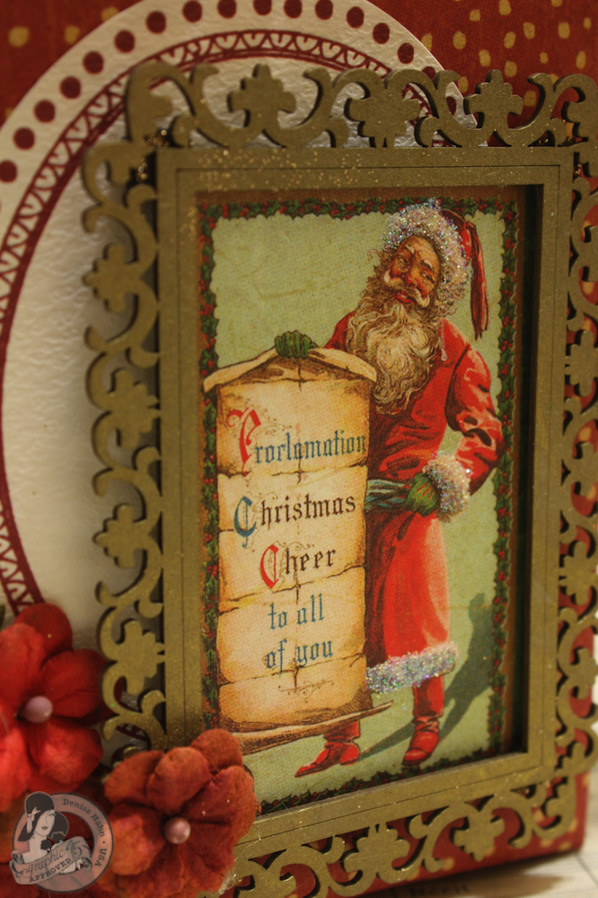 Denise Hahn Graphic 45 Scrapbook Adhesive Vintage Christmas Gift Bags - 06-imp