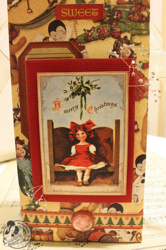 Denise Hahn Graphic 45 Scrapbook Adhesive Vintage Christmas Gift Bags - 14-imp