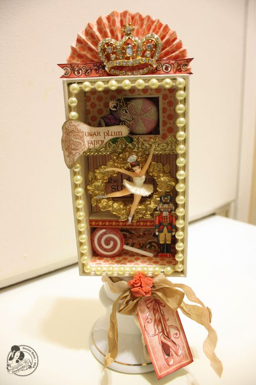 Denise Hahn Graphic 45 Nutcracker Sweet Altered iPhone box - 1.2-imp