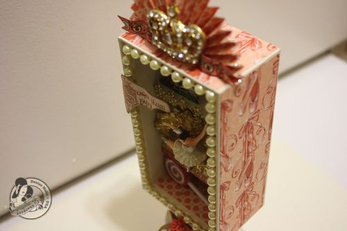 Denise Hahn Graphic 45 Nutcracker Sweet Altered iPhone box - 4-imp