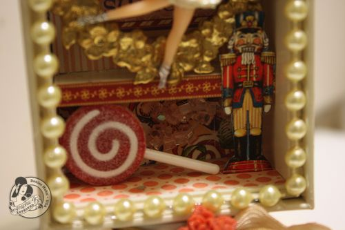 Denise Hahn Graphic 45 Nutcracker Sweet Altered iPhone box - 5-imp