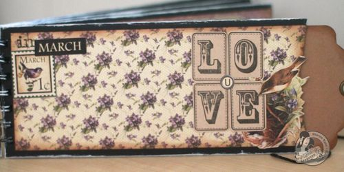 Graphic45 Sharon Ngoo Place in Time Lovenote book - inside