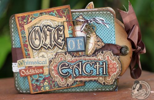 Graphic45 Sharon Ngoo Olde Curiosity Shoppe Star tagbook