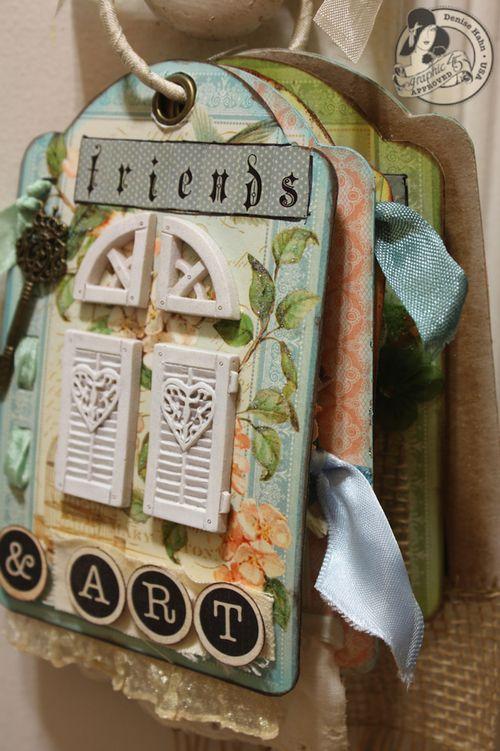 Denise Hahn Graphic 45 Secret Garden Small Tag Album - 06-imp