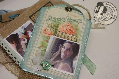 Denise Hahn Graphic 45 Secret Garden Small Tag Album - 13-imp