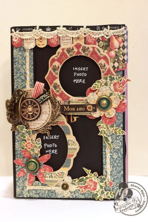 Graphic45 Sharon Ngoo French Country 5x8 altered art box