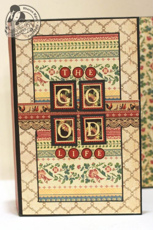 Graphic45 Sharon Ngoo French Country 5x8 altered art box (first flap)