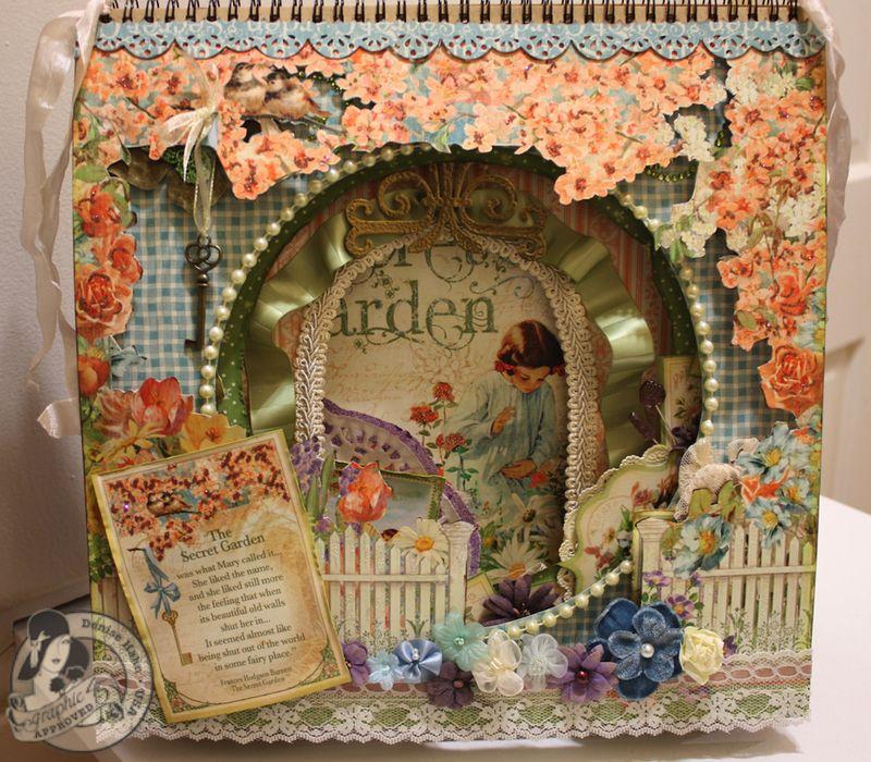 Denise Hahn CHA 2013 Secret Garden 12x12 Easel Album - 01-imp