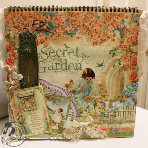 Denise Hahn CHA 2013 Secret Garden 12x12 Easel Album - 15-imp