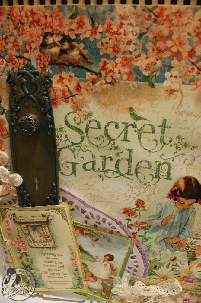 Denise Hahn CHA 2013 Secret Garden 12x12 Easel Album - 16-imp