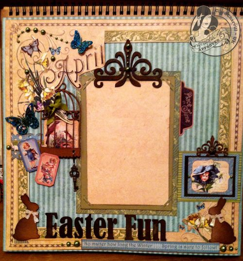 Place in time Easter Layour Graphic 45 Clare Charvill tutorial