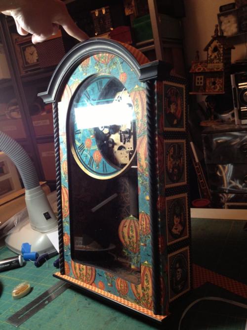 Steampunk Spells altered clock Diane Schultz workshop upcycle
