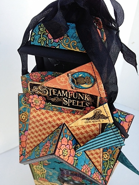 Steampunk Spells Altered Art Birdhouse Card Ideas