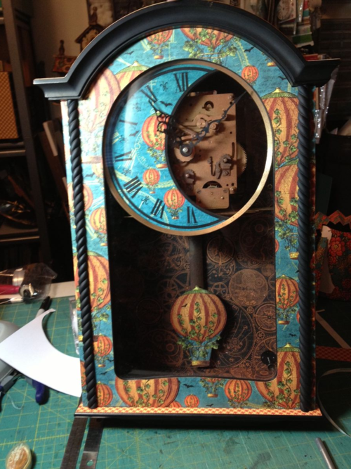 Steampunk Spells altered clock Diane Schultz workshop upcycle