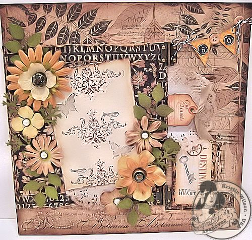Kraft Reflections layout Kristin Wilson Graphic 45