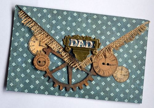 Graphic 45 Father's Day Gift Card Holder Proper Gentleman Karen Shady