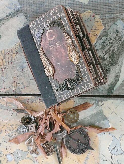 Altered Book Album Gift Rhea Freitag Graphic 45