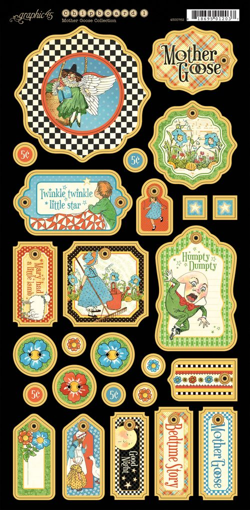 Mother Goose Graphic 45 Sneak Peek Summer CHA 2013 Chipboard