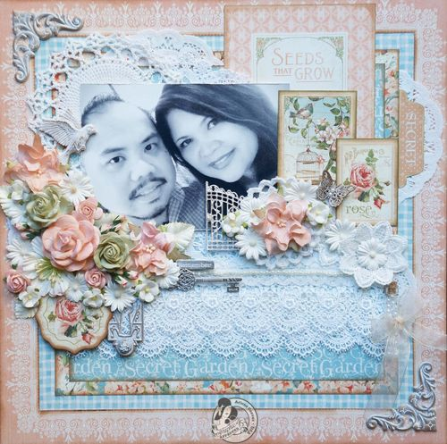 Arlenecuevas_June 2013_Secret Garden_12x12, layout, Graphic 45, Graphic 45