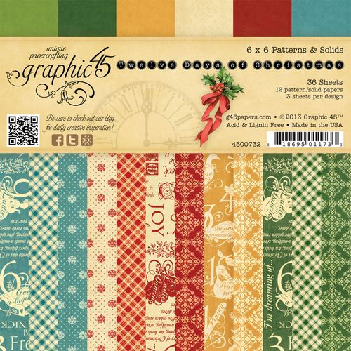 Graphic 45 Tweleve Days of Christmas 6x6 paper pad sneak peek CHA Summer 2013