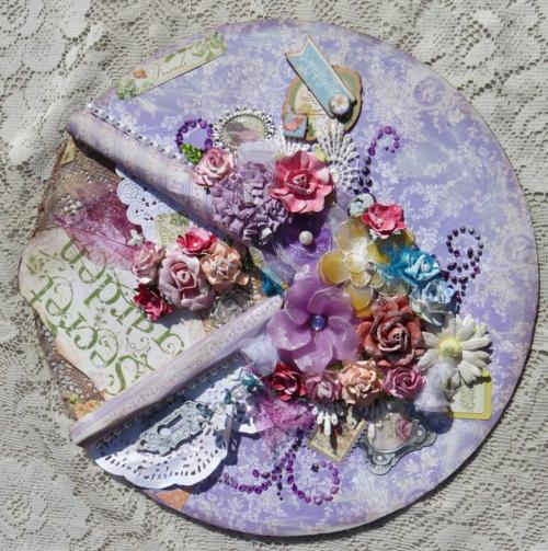 Secret Garden altered record gift idea Graphic 45 Brittany Pochick home decor