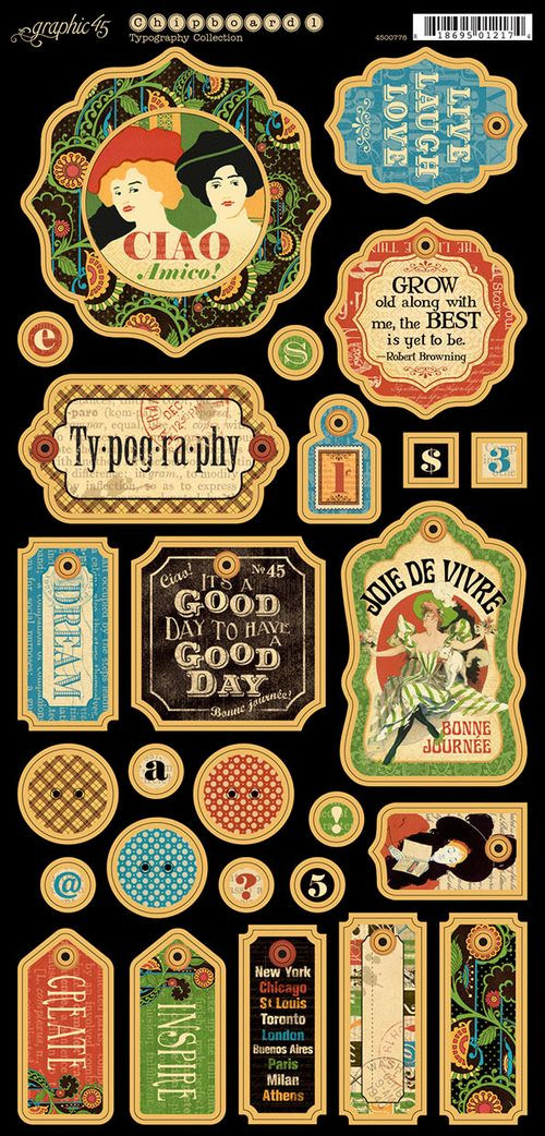 Typography-sneak peek, CHA Summer 2013, embellishments, stickers, chipboard die- cut, stamps, cardstock