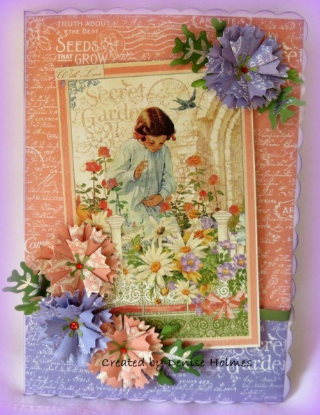 Denise Holmes Graphic 45 Secret Garden Card Gift