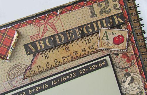 An ABC Primer layout Graphic 45 Gloria Stengel back to school