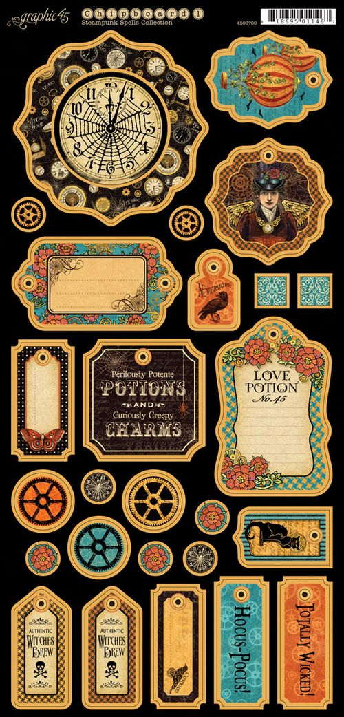 Steampunk Spells Chipboard Graphic 45 sneak peek