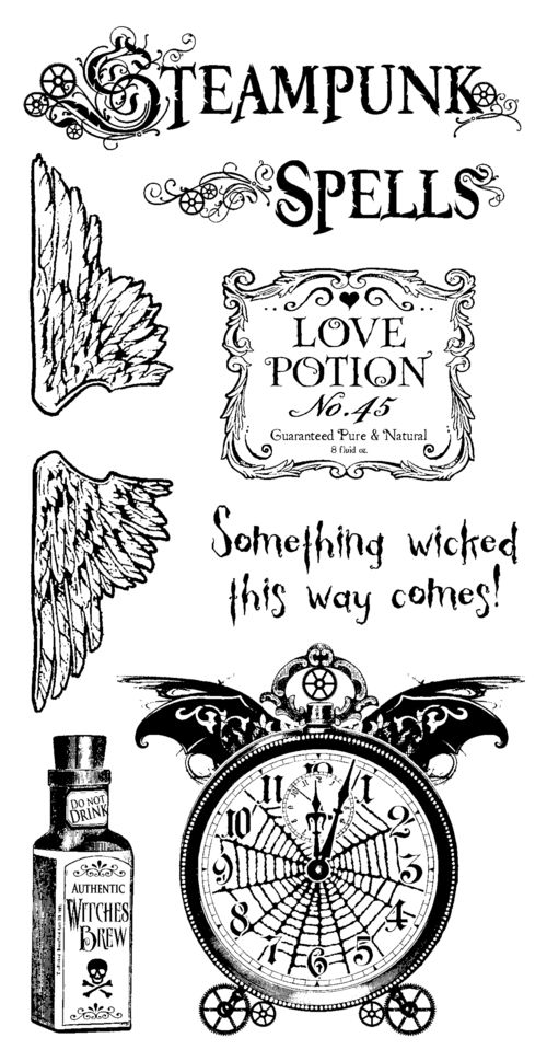 Steampunk Spells Stamp Graphic 45 Sneak Peek