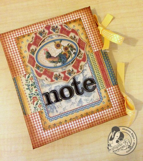 Graphic45 Sharon Ngoo French Country Simple Notebook