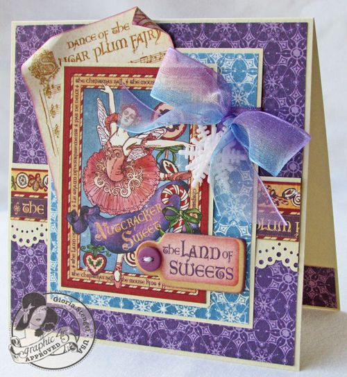 Nutcracker Sweet Card Holiday Gloria Stengel Graphic 45