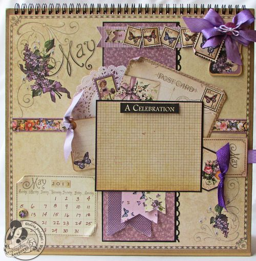 Place in Time calendar May Gloria Stengel Graphic 45