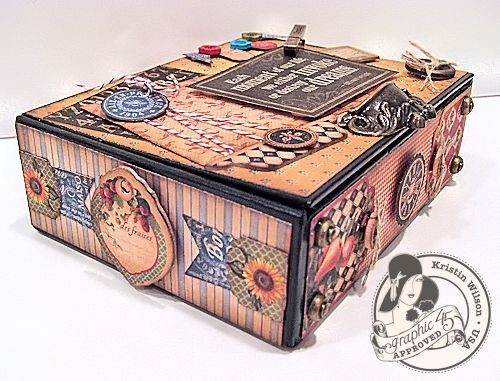 Graphic 45 French Country Altered Box Kristin Wilson Gift