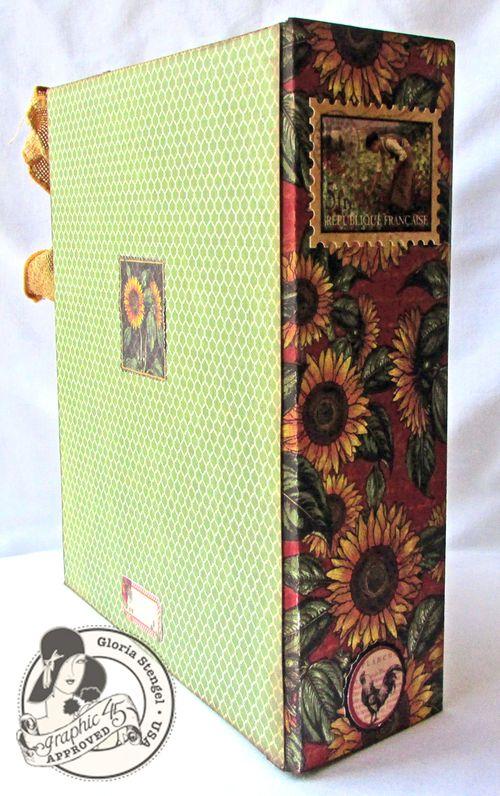 French Country Mini Album Altered Box Gloria Stengel