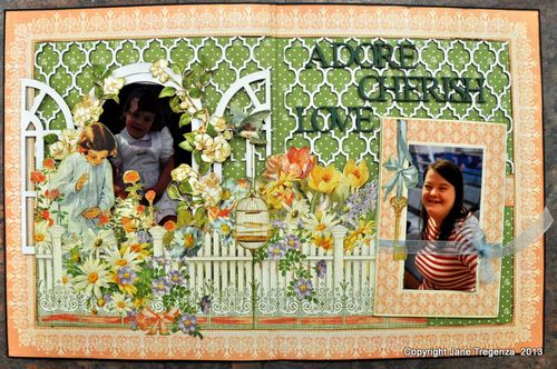 Secret Garden book layout Graphic 45 Jane Tregenza