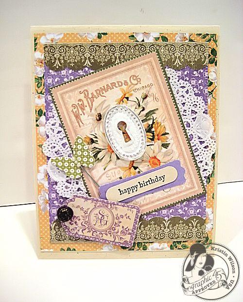 Secret Garden birthday card Kristin Wilson Graphic 45