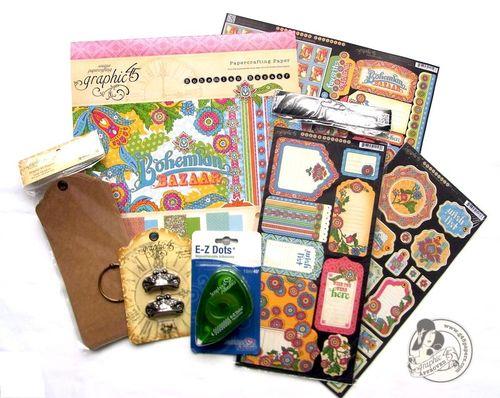 Graphic 45 prize contest winner Bohemian Bazaar