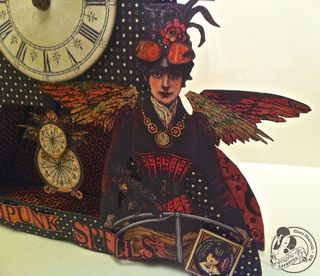 CHA & Papercrafters Library Clare Charvill Steampunk Spells Altered Art Pic 2